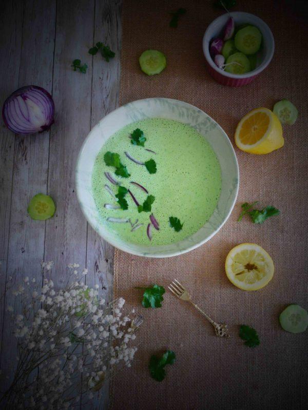soupe de concombre rafraîchissante