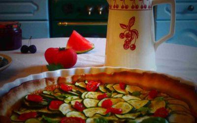 Recette Saine de Tarte aux Courgettes Facile , Crème de Tomates Séchées