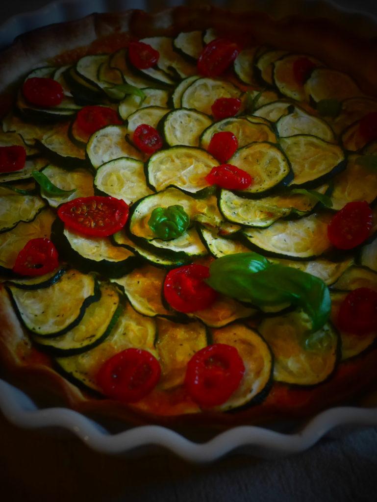 Recette healthy de tarte aux courgettes